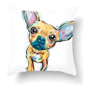 🆕 Dog Cushion Pillow Cover NWOT